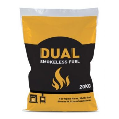 DUAL 20kg Smokeless Coal x 25bags