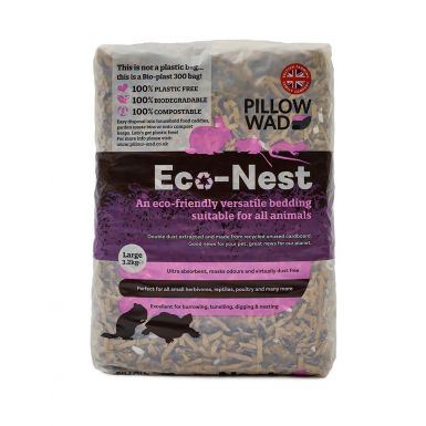 Pillow Wad's Bio Eco-Nest - Virtually Dust Free Animal Bedding 3.2 kg bales