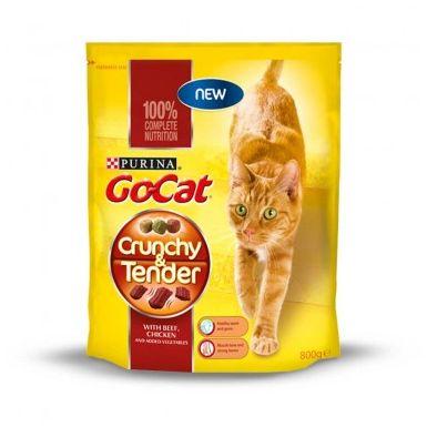 Go-Cat Crunchy Beef,Chicken & Veg