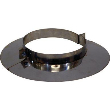 125mm Register Plate Split Collar - Stainless Steel