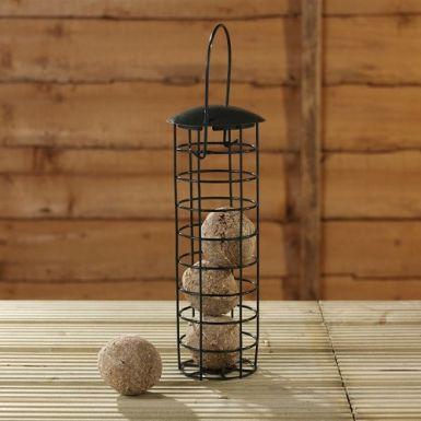 Fat ball feeder with 4 suet balls